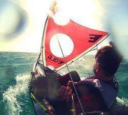 Galaxy Cruz Fisher Tandem + kit de vela grande con orzas + timón EOLA