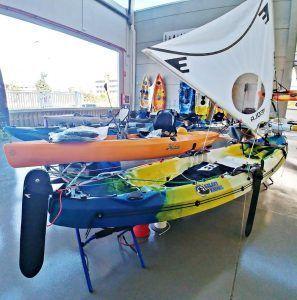 vela para kayak completo